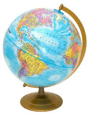 Globemaster, Raised-Relief, World Globe | Bright Blue Design | Fully Updated Map