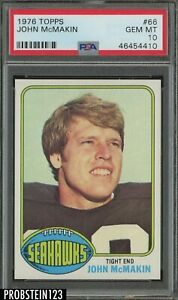 1976 Topps Football #66 John McMakin Seattle Seahawks PSA 10 GEM MINT