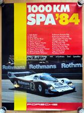 """orginal Porsche Plakat Poster """"1000 Km Spa"""" 84 Rothmans 956 Stefan Bellof"""