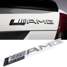 1 Pcs Black Series ABS AMG Badge Decal Chrome Sticker Emblem For Mercedes Benz