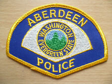 Patches: ABERDEEN WASHINGTON EVERGREEN STATE POLICE PATCH (NEW. apx. 4.12x3.4)