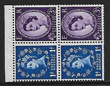 SB50 Wilding booklet pane Violet Phos S/W Left perf type I UNMOUNTED MNT/MNH