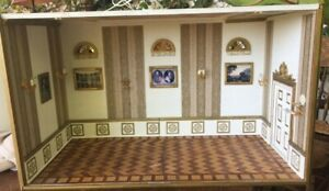 Castle DOLLHOUSE MINIATURE DIORAMA ROOM BOX ANTIQUE & VINTAGE Pictures Lighting