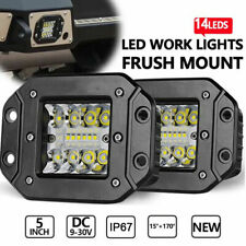 2PCS 39W LED Work Light Bar Flood Spot Lights Driving Lamp Offroad Car Truck SUV