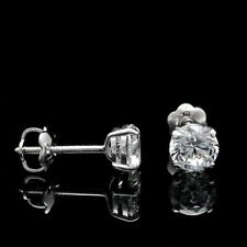0.80 Ct Real Diamond Solitaire Earring Stud 950 Platinum