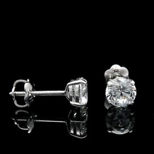 Real 0.80 Ct Diamond Ladies Wedding Earrings Solid 950 Platinum Real Earrings