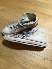 Vintage Converse Chuck Taylor All Star High Top, White, US 8.0, Made In USA