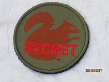 SECRET Squirrel,Unit ID Morale Patch,Klett Rückseite ,Abzeichen,oliv