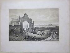 1850 BATTAGLIA DI NOVARA Villa Visconti Prima guerra di indipendenza litografia