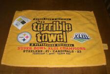 STEELERS SUPER BOWL XLIII CHAMPIONS TERRIBLE TOWEL - NEW