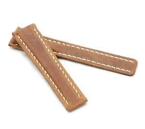 BOB Genuine Suede Deployment Strap for Breitling, 20-24 mm, 4 colors, new!