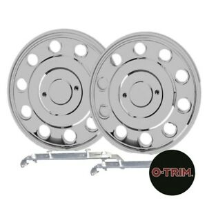 """Set 4 16"""" Stainless steel wheel trims hub caps covers  for VW Crafter 06-"""