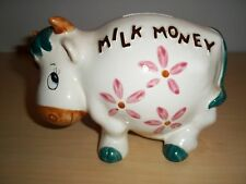 Vintage Lefton Shy Cow Milk Money China Coin Bank - #3123 - Excellent!