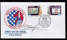 Philippines 30th CHESS OLYMPIAD Manila 1992 Champion Gary KASPAROV sign cover