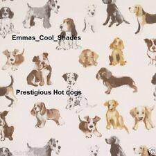 New Handmade Lampshade Prestigious Hot Dogs Fabric 30cm Drum White pug westie