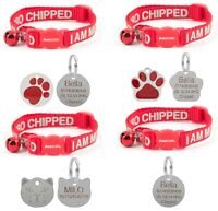 Cat Collar Ancol Alert, Safety Quick Release, With Choice Of Engraved ID Tag