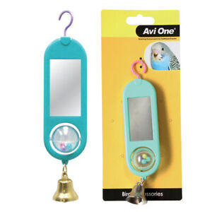 Avi One Hanging Double Sided Mirror With Tumbling Ball Toy Budgie Finch Canary