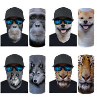 Headscarf Neck Gaiter Tube Warmer Scarf Outdoor Motor Cycling Balaclava Animals
