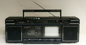 ALBA TVR 50 BOOMBOX WITH TV TELEVISION GHETTO BLASTER 1980s RETRO VINTAGE
