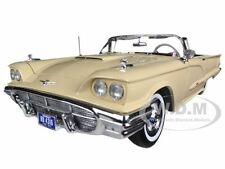 1960 Ford Thunderbird Open Convertible Tawney Beige 1/18 by SUNSTAR 4316