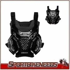 Alpinestars A-6 A6 Chest Protector Black One Size Fits Most Works w/ Neck Brace