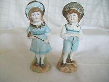 Vintage German bisque boy & girl figures Heubach?