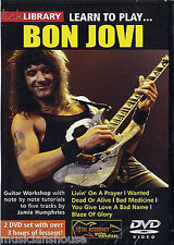 Lick Library Learn To Play Bon Jovi lección Livin' en una oración tutor Guitarra Dvd
