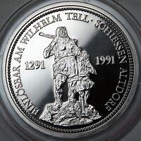 1986 Switzerland 1999 Platinum 1 Oz Proof Coin William Tell Shooting Thaler