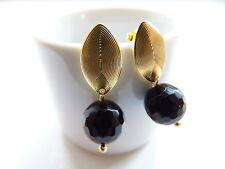 Ohrschmuck aus ovaler Echtschmuck mit Onyx-Hauptstein