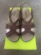 Hotter Flare Size 4.5 Dark Tan Multi Sandals