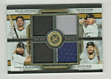 2020 Museum Collection QUAD RELIC GOLD ARENADO STORY BLACKMON DAHL 16/25 Rockies