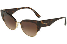 Dolce & Gabbana Cat Eye Sunglasses Havana Brown Gradient Dg 4346 502/13 53mm New