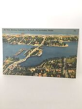 pc aerial view shows causeway to beach Fort Lauderdale FL  PC near mint