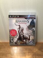 Assassin's Creed III (Sony PlayStation 3, 2012) PS3, Complete