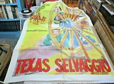 TEXAS SELVAGGIO manifesto 2F originale 1947 ELLIOTT CARROLL MC LEOD
