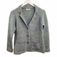 Cocogio Italian Wool Blend Cardigan Sweater Blazer Women M Jacket Blazer Gray