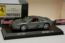 Detalle Cars 1/43 - Ferrari F355 Gris