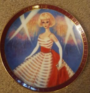 """Danbury Mint High Fashion Barbie Collector's Plate """"Holiday Dance"""" Lted ed 1658"""