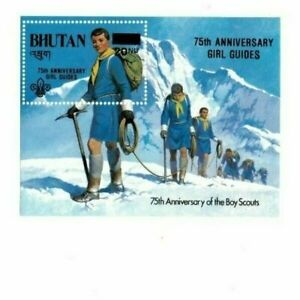 Bhutan 1986 563 - Boy Scouts - Girl Guide Ovpt - Surcharged  - MNH