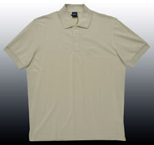 NEW HUGO BOSS Ferrara Light Tan Pima Cotton Golf Golfing Polo Shirt L CLASSIC