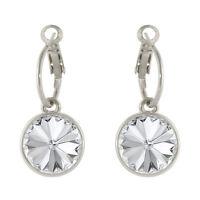 Round Bella Hoop Women Crystal Earrings made with Genuine SWAROVSKI Crystals