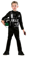 Kids SWAT Team Police Costume Child Size Medium 8-10