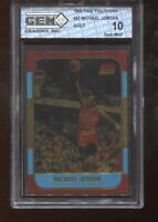 Michael Jordan 1996 Fleer Polychrome 23k Gold 1986 Rookie GEM MINT 10