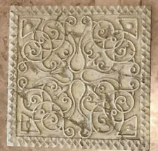 Stepping Stone 10 5/8 in x 10 5/8 in Celtic Scroll Concrete Resin 4.6 lbs