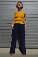 Damen Strickwaren Strick Pullunder 70er TRUE VINTAGE 70's knitwear slipover NOS