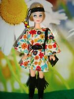 Topper Dawn Doll clothes...60's style MINI DRESS ..CUSTOM MADE