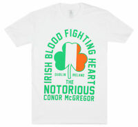 UFC Mens Conor Mcgregor Irish Heart T-Shirt - White