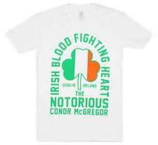 UFC Mens Conor Mcgregor Irish Heart T-Shirt - White