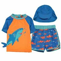 Crafted Essentials Kids Boys 2 Piece Sun Safe Suit Child Beach Swimsuit Short