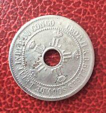 Etat Indépendant du Congo - Congo Belge -  Jolie  10  Centimes 1908